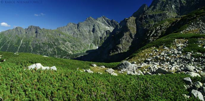 Widok na Rysy z rozdroża należy do najpiękniejszych w Tatrach.