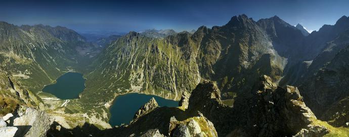 Panorama 180° z Kazalnicy Mięguszowieckiej
