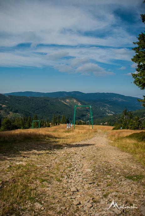Zielony szlak z Malinowa do Szczyrku - trasa narciarska