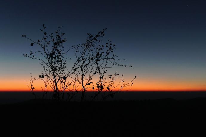 Zachód słońca na Narożniku