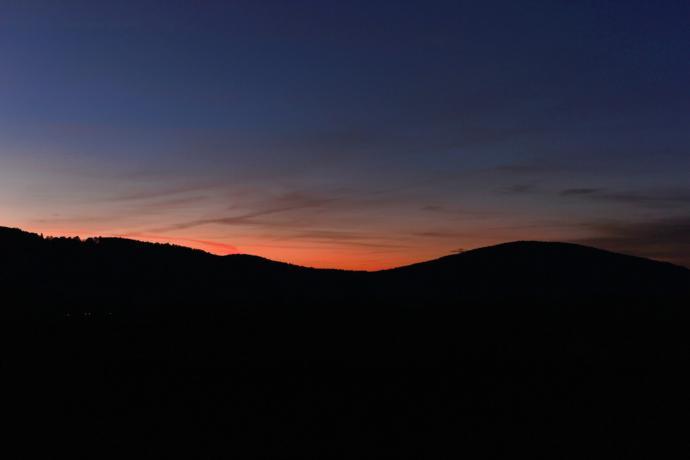 Zachód Słońca nad Ścinawką Średnią