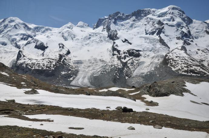 widok z platformy Gornergrat