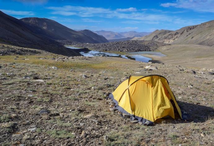 Biwak pod Przełęczą Wrang