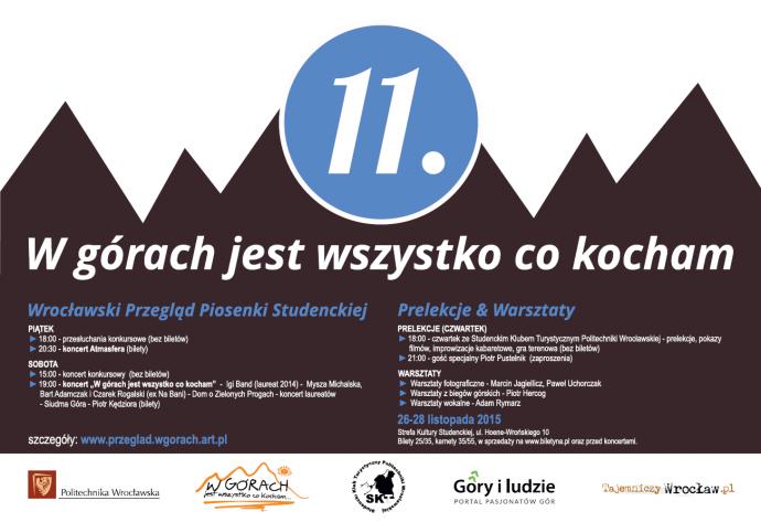 Plakat 11. Wrocławskiego Przeglądu Piosenki Studenckiej