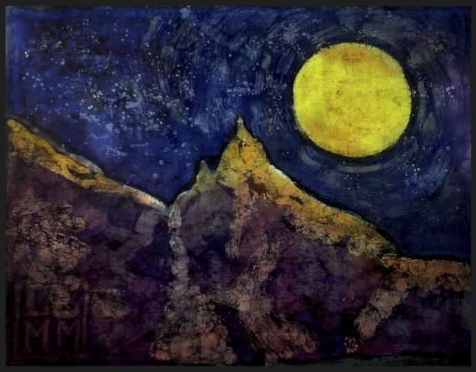 Księżycowy Mnich (Okolice Morskiego Oka) 80 x 120 cm