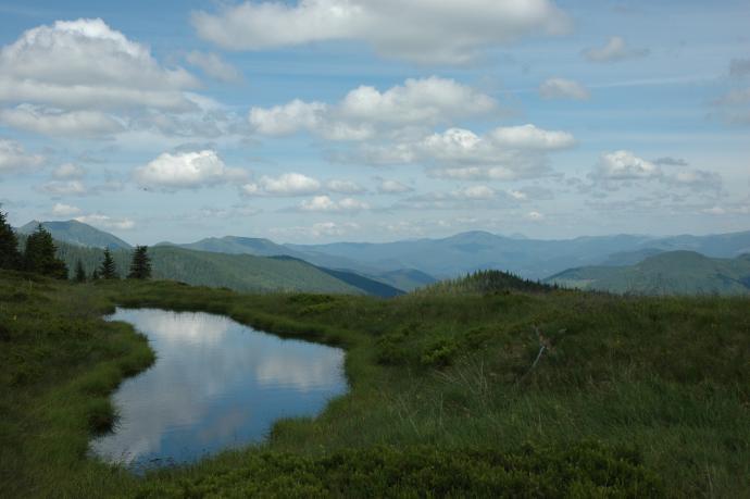 Ogromne przestrzenie Gór Marmaroskich