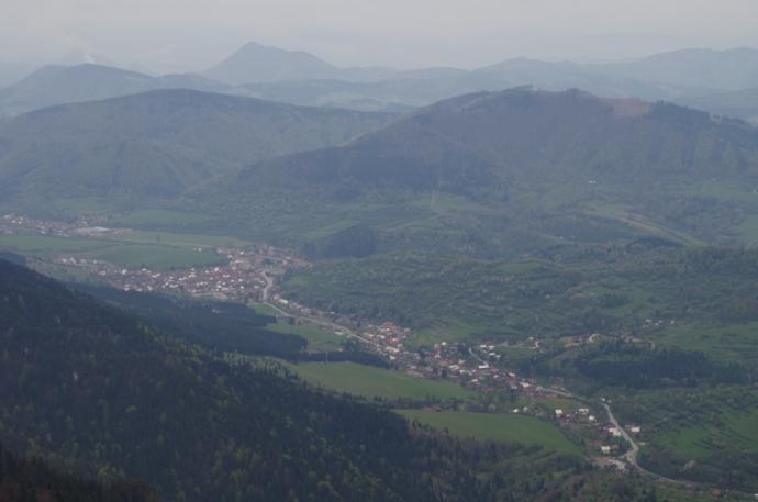 Widok z Malego Rozsutca na Terchovą