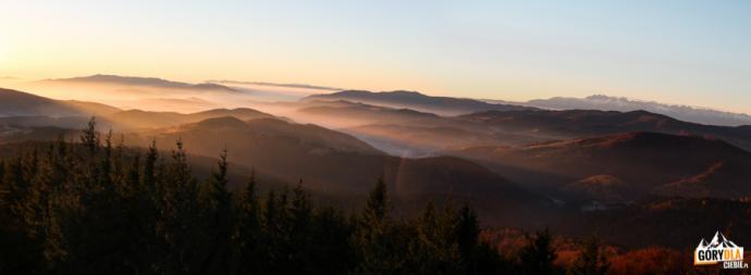 Beskid Sądecki, Gorce i Tatry w pierwszych promieniach słońca