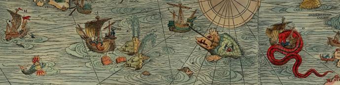 Morskie potwory na mapie z 1539 r.