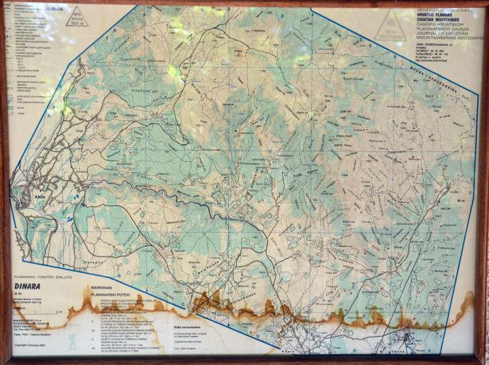 mapa Gór Dynarskich - okolice Dinary