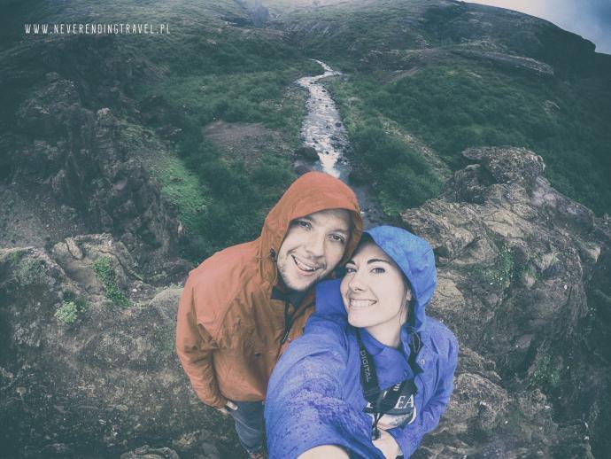 Selfie nad wododspadem Glymur