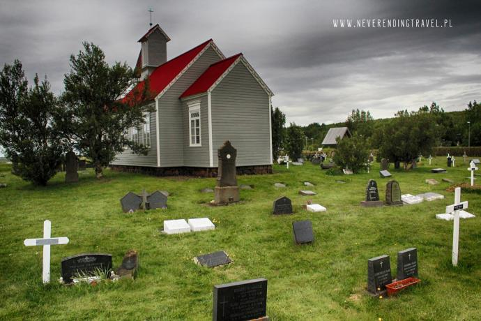 Kościół i cmentarz w Reykholt