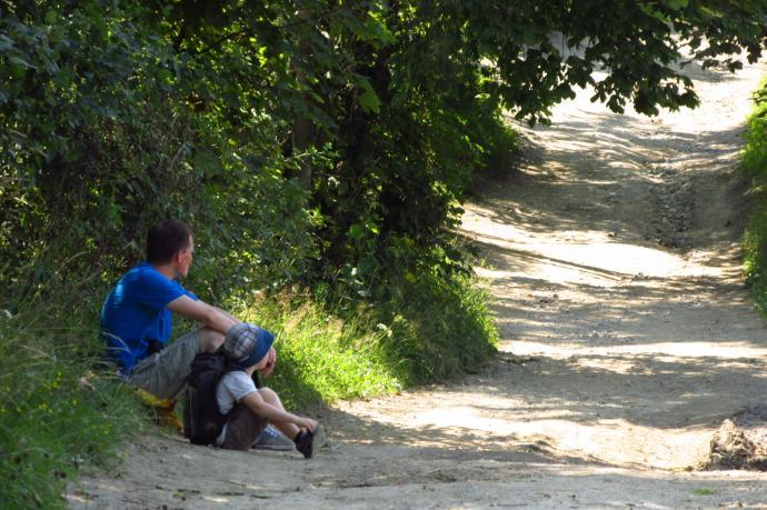 Na Maciejową: ojciec i syn