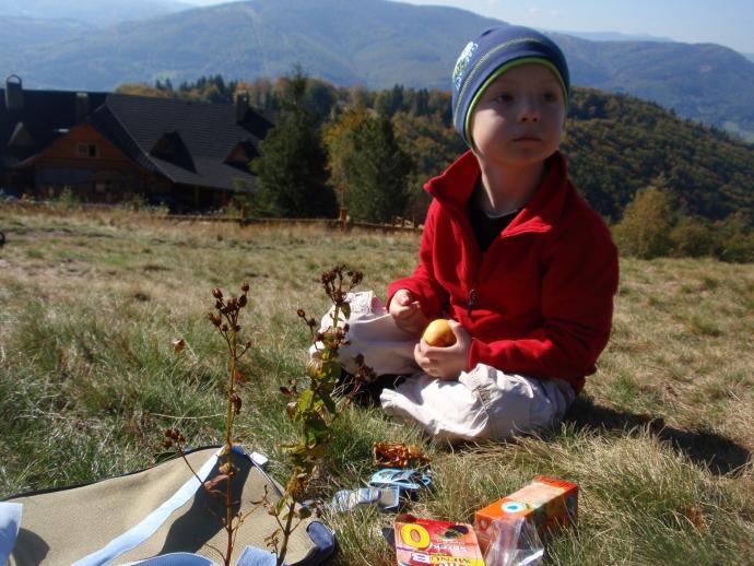 Pierwszy piknik na pierwszej górskiej wycieczce