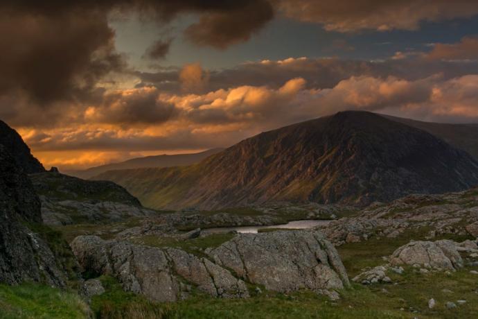 Snowdonia – przełęcz pomiedzy Y-Garn a Glyder Fawr