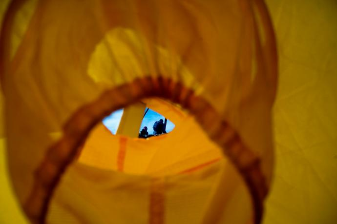 Widok z namiotu