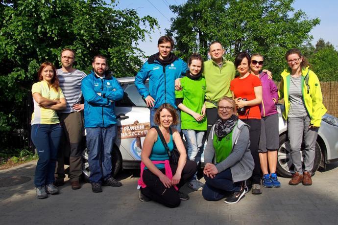 Od lewej: Kasia, Michał, Mateusz, Kuba, Anita, Paweł, ja, Gosia, Madzia, na dole Kasia i Karolina