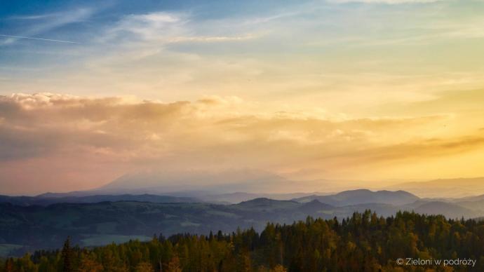 Niebo było niemal bezchmurne, ale Tatry niestety nie były dobrze widoczne