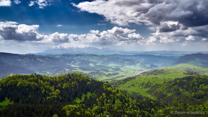Tatry z Wysokiej w Pieninach