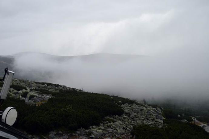Widok z okna w Schronisku na Szrenicy