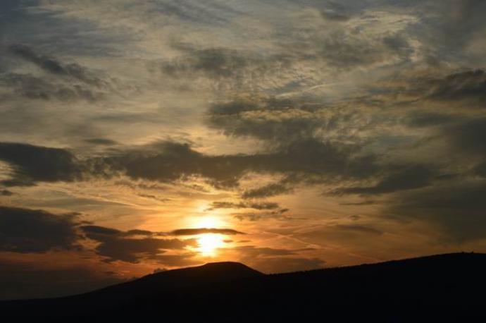 Zachód Słońca na Przełęczy Karkonoskiej