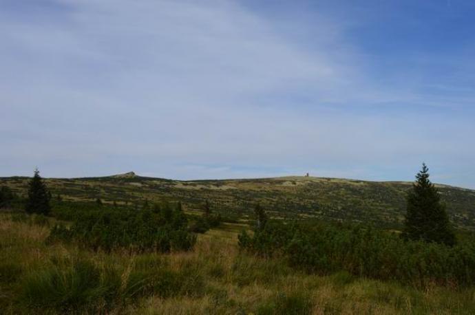 Widok na główny grzbiet Karkonoszy