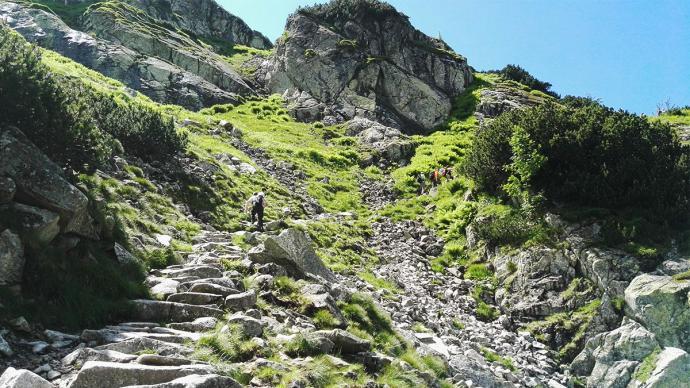 Droga z Siklawy do Doliny Pięciu Stawów