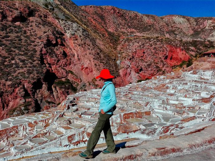 Kopalnia soli na szlaku z Maras do Salineras de Maras