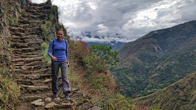 Szlak inkaski prowadzący do Machu Picchu w Peru