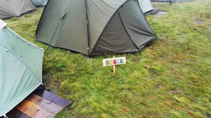 """Namiot o wdzięcznej nazwie """"Bobek"""""""