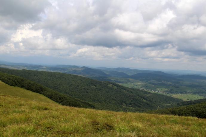 Widok z przełęczy