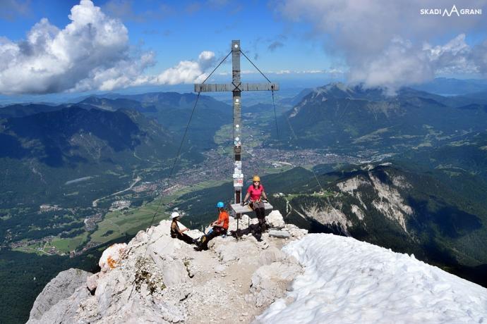 Jest krzyż, jest szczyt! Alpspitze 2628 m n.p.m