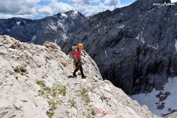 Schodzimy z Alpspitze.