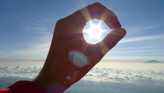 Słońce w dłoni