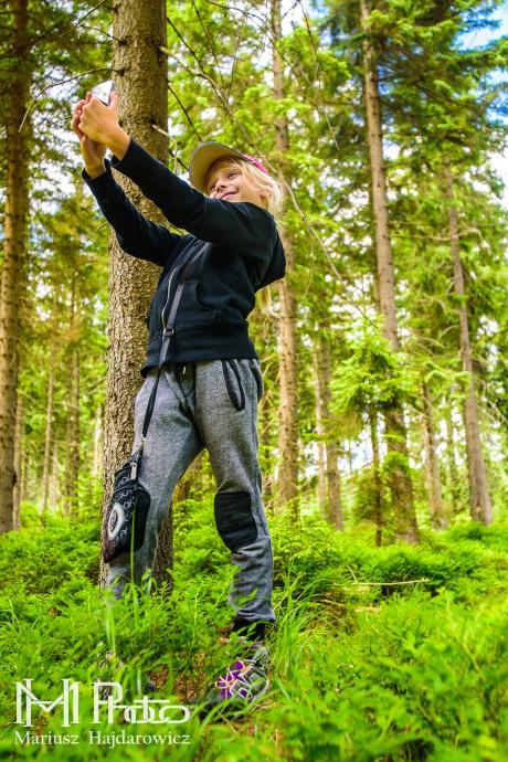 Selfi w lesie musi być