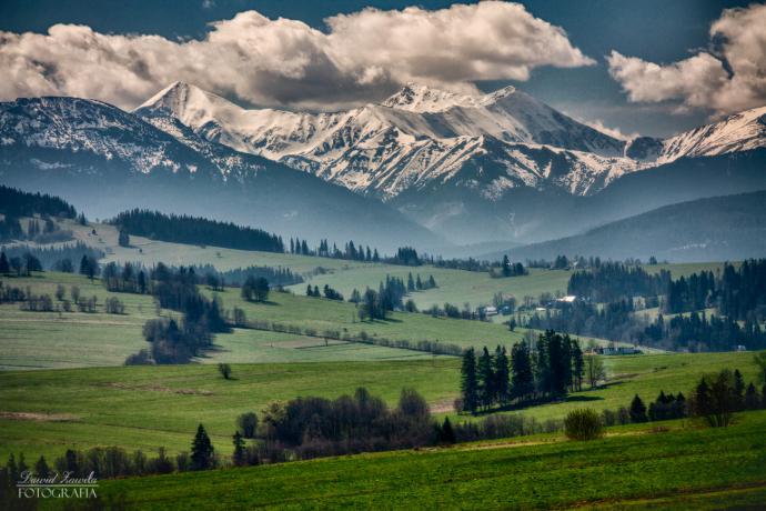 Tatry - widok ze wsi Ząb