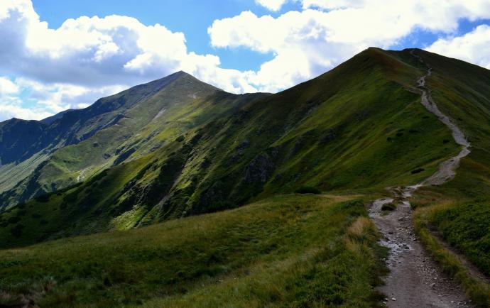 Dudowa Przełęcz z widokiem na Starorobociański i Kończysty