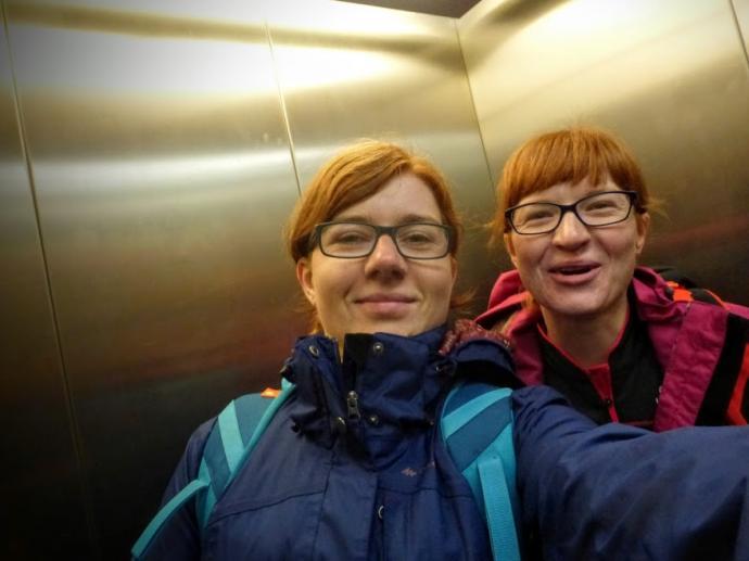 Selfie w windzie na Kasprowym!