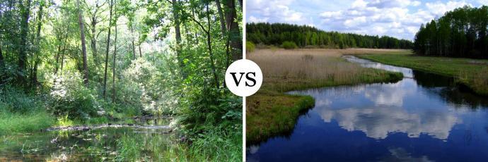 Ta sama rzeka - Krasna - uchwycona na dwa różne sposoby. Jest różnica?