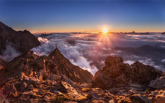 Widok z okolicy schronu Forestiere na Chamonix