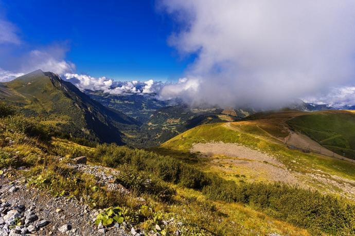 Po drodze z Chamonix w stronę Nid dAigle lokacja = Europa, Francja, Alpy autor = Patrycja tag = lato  [8747] ; scald_image tytuł = Po drodze z Chamonix w stronę Nid dAigle