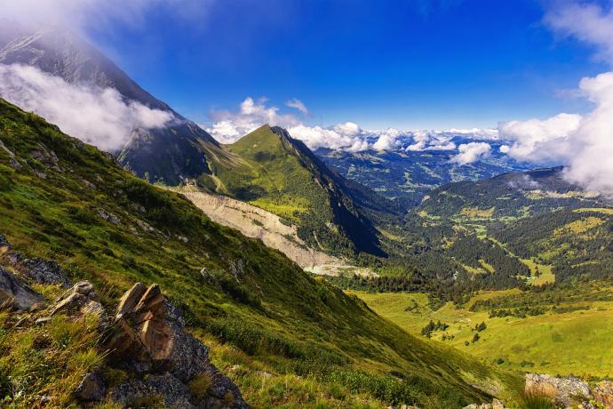 Po drodze z Chamonix w stronę Nid d'Aigle