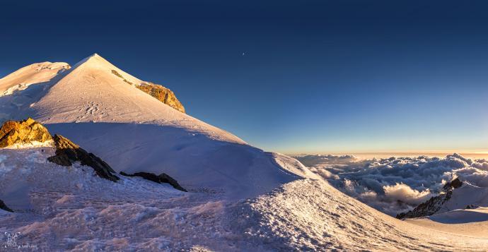 Mont Blanc po południu