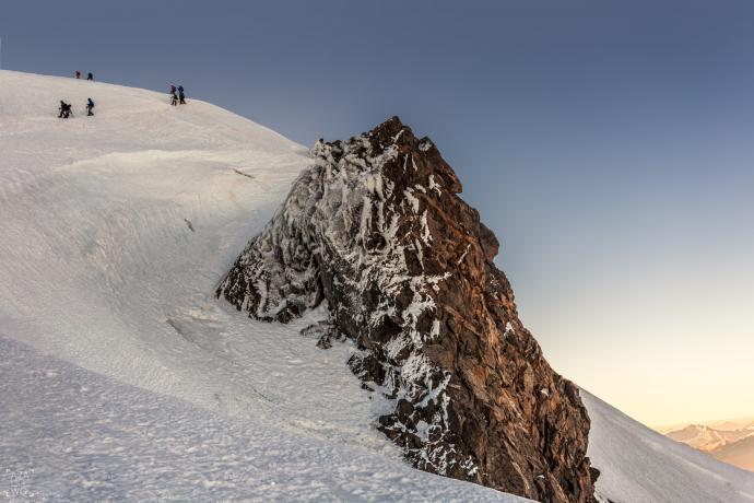 Zejście z Mont Blanc