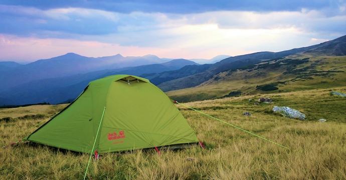Namiot Jack Wolfskin Skyrocket II Dome z zewnątrz