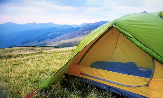 Wnętrze namiotu Jack Wolfskin Skyrocket II Dome