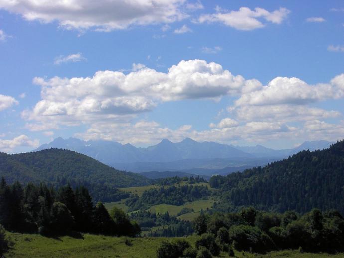 Tatry widziane z Palenicy