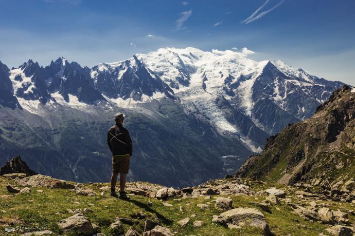 Z widokiem na Mont Blanc