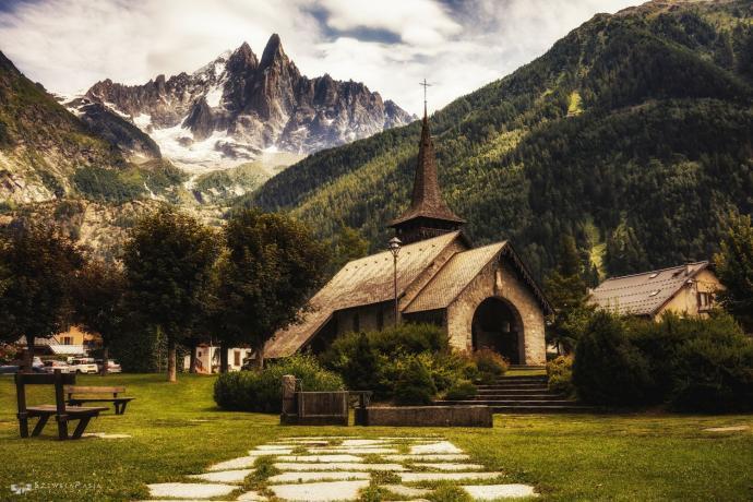 Kapliczka w Chamonix