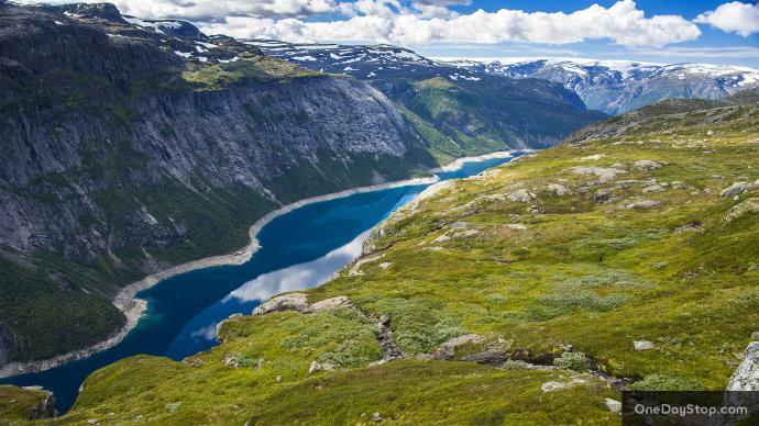 Widoczek na Jezioro Ringedalsvatnet
